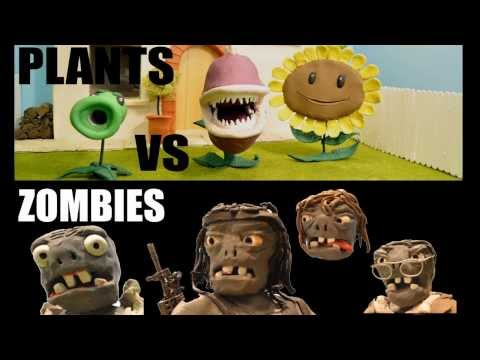 claymation - Plants Vs Zombies, a claymation, NOT SUITABLE FOR SMALL CHILDREN. Please like, if you like. Very loosely based on the Plants vs Zombies app with my own inter...