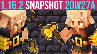 Minecraft 1.16.2 Snapshot 20w27a Piglin Brute - New Nether Mob!