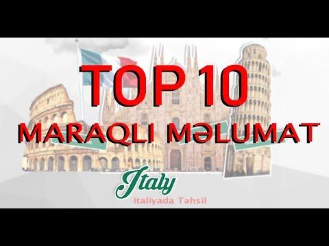 Italiya Haqqında 10 Maraqlı məlumat | İtaliyada Təhsil