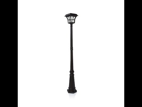 HGTV HOME 76″ Solar Powered Lamp Post
