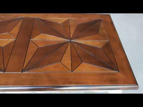 Scrittoio in legno intarsiato 120x60