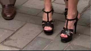 Amy Robach&Natalie Morales - Sexy Stiletto High Heels Close Up
