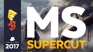 Microsoft showed a ton of games at their conference, which is highly disappointing since it's harder to make bad jokes when the conference is actually interesting. Regardless, watch our supercut and then conclusions on the Microsoft Briefing at E3 2017, including Metro Exodus, Forza 7, Anthem, Assassin's Creed Origins and more.