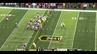 Riley Reiff vs Nebraska 2011