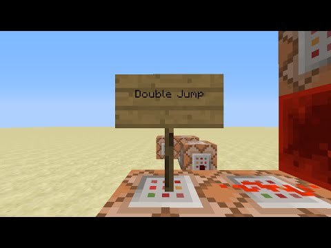 MineCraft Tutorials – Double Jump (In Vanilla Minecraft)