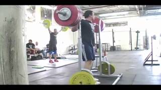 Steve works up to a triple at 190 in the back squat. - Weight
