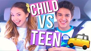 Child VS Teen: Car Rides w/ Brent Rivera! by Meredith Foster