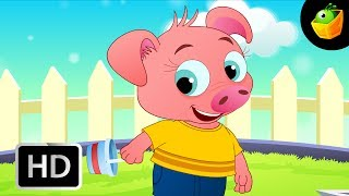 Piggy on the Railway  - English Nursery Rhymes - Animated/ Cartoon Songs For Kids