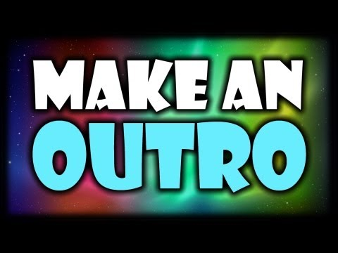 [TUTORIAL] How to Make an Outro for your YouTube Videos! Add an Outro to your videos! [Sony Vegas]