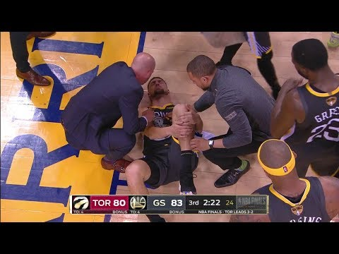 Klay Thompson LEG INJURY, Torn ACL - Game 6 | Raptors Vs Warriors | 2019 NBA Finals