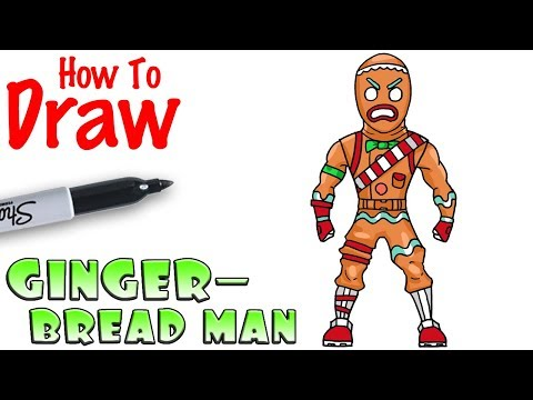 How to Draw Gingerbread Man | Fortnite