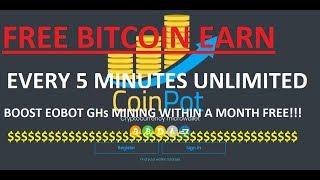 Earn Free Bitcoin, Litecoin, Dogecoin, Dashcoin | Boost EOBOT Gh/s mining with Coinpot [HINDI]