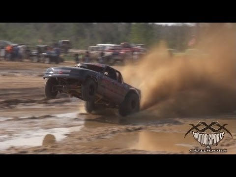 Modified mud truck catches some air