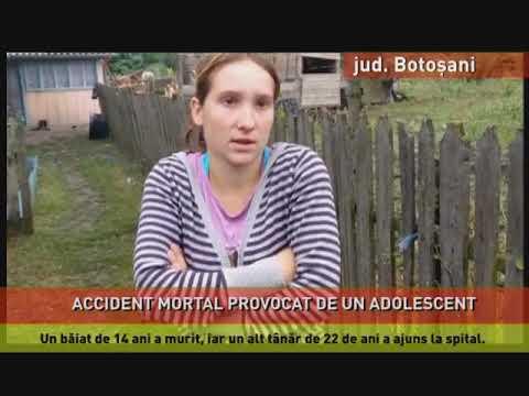 Accident mortal pe o şosea din judeţul Botoşani provocat de un adolescent de 16 ani