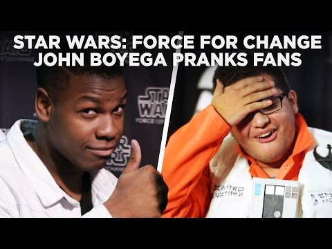 Finn from Star Wars Pranks Fans