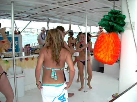 Wild Party Boat Pole Dancing Wipeout