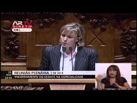 Maria Luís Albuquerque no encerramento do debate do OE 2014