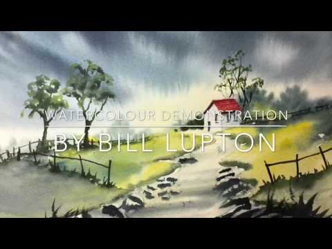 Painting Demonstration by Bill Lupton : The Red Roof
