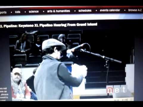 Jorge Arauz Testimony Keystone Pipeline Hearing Grand Island NE 4-18-2013