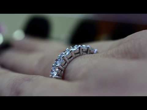 7 stone diamond wedding band ring