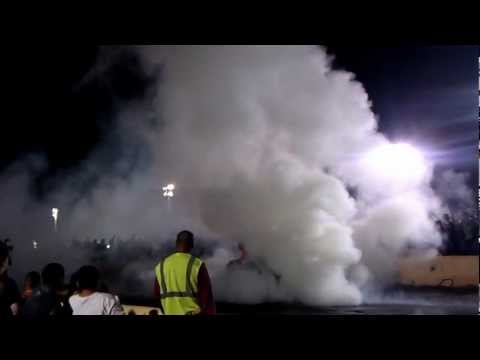 KRP Burnout Contest - Streetbike blows tire