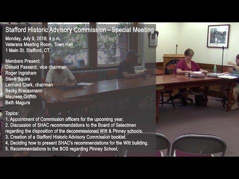 Stafford Historical Advisory Commission 7-9-18