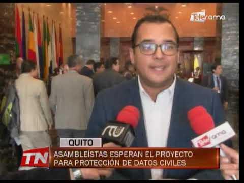 Asambleístas esperan el proyecto para protección de datos civiles