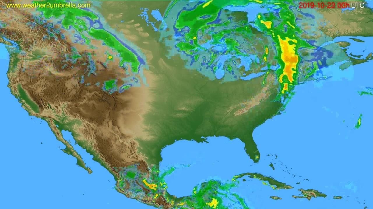 Radar forecast USA & Canada // modelrun: 12h UTC 2019-10-22