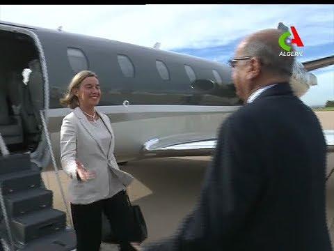 Diplomatie: Les premières images de Federica Mogherini à Alger.