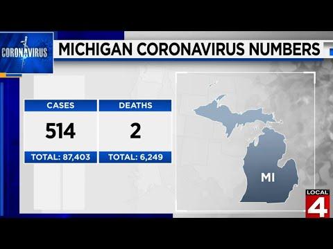 Michigan coronavirus update: 514 new cases Aug. 9, 2020