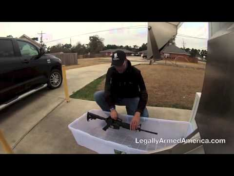 "GUN BULLIES - ""Ice Ice Baby"" (Freeze the AR15 in ice!)"
