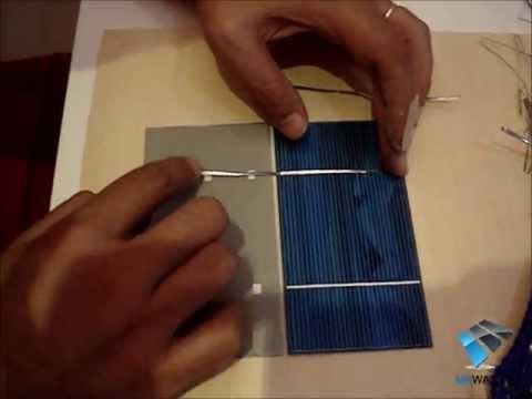 Costruire un pannello solare fotovoltaico fai da te in casa.Saldare celle solari DIY SOLAR PANEL