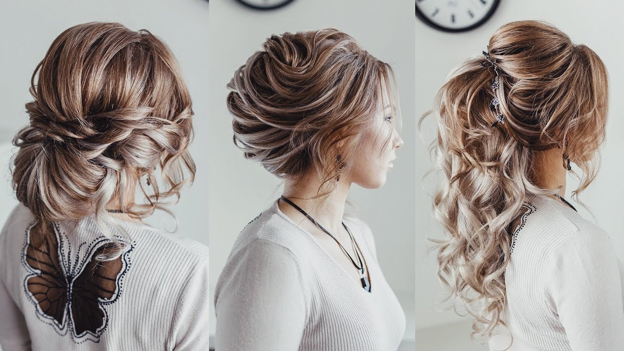 3 Wedding hairstyle ideas with extensions | Loose bun French twist ...