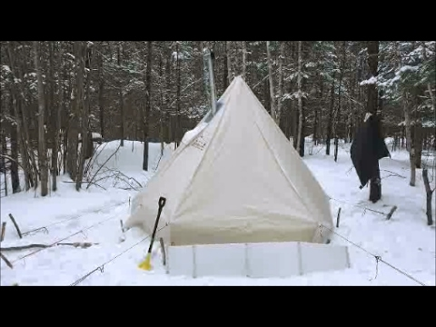 Solo Winter Camping And Bushcraft Part 2: Wood Prep, Food And Camp