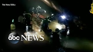 Video Rescue operation continues for boys, soccer coach in Thailand cave MP3, 3GP, MP4, WEBM, AVI, FLV September 2018