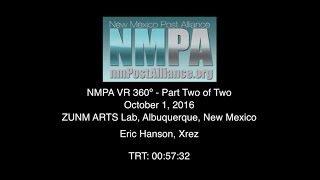 NMPA Virtual Reality 360º Conference Part Two