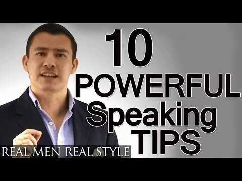 10 Speaking Tips | Advanced Presentation Advice | How To Give A Powerful Speech | Public Speaking