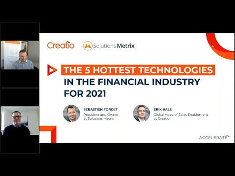 Financial services industry: the 5 hottest technologies for 2021   Creatio
