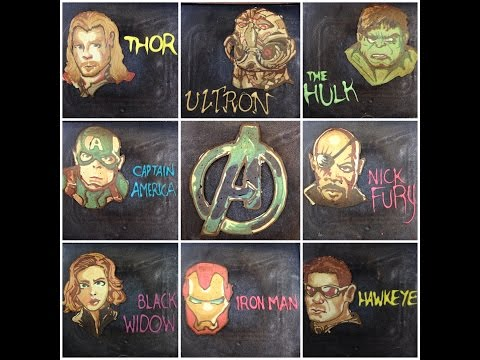amazing the avengers pancakes art