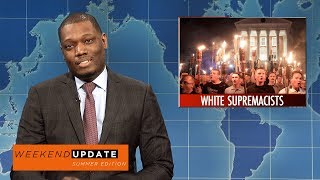 Weekend Update anchors Colin Jost and Michael Che tackle the week's biggest news, including white supremacists in Charlottesville and President Trump's falling approval ratings.Get more SNL: http://www.nbc.com/saturday-night-liveFull Episodes: http://www.nbc.com/saturday-night-liv...Like SNL: https://www.facebook.com/snlFollow SNL: https://twitter.com/nbcsnlSNL Tumblr: http://nbcsnl.tumblr.com/SNL Instagram: http://instagram.com/nbcsnl SNL Pinterest: http://www.pinterest.com/nbcsnl/