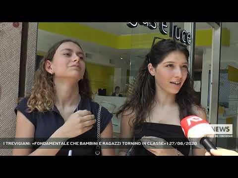 I TREVIGIANI: «FONDAMENTALE CHE BAMBINI E RAGAZZI TORNINO IN CLASSE» | 27/06/2020