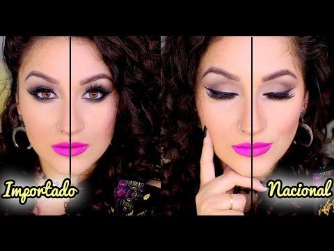 Maquiagem comparação