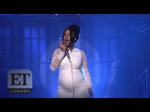 Cardi B Reveals Pregnancy During 'SNL' Performance