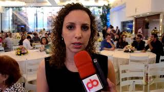 Marcela Executiva Financeira da SPC Brasil no I Fórum do Comércio em CG