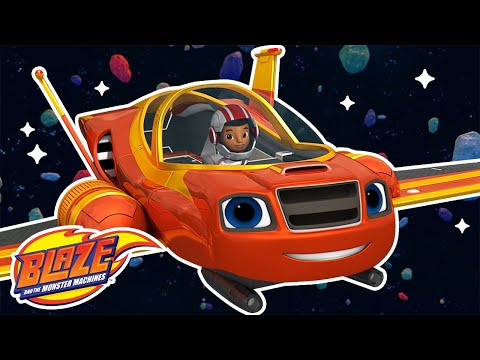 Let's Race in Space with Blaze! | Blaze and the Monster Machines