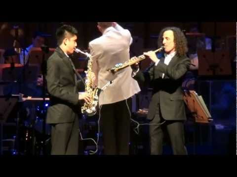 Kenny G And Austin Gatus Quot Over The Rainbow Quot Accompanied By Orange County 39 S Pacific Symphony