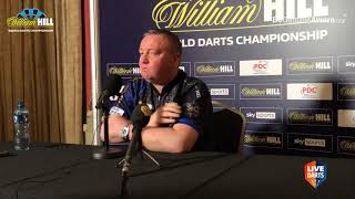 "Glen Durrant on World Championship win over Portela: ""I'm pretty disappointed with my behaviour"""
