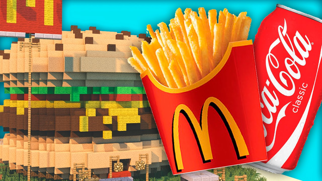 Minecraft Mod – MCDONALD'S, BURGER KING, COCA COLA! – Fast Food Mod