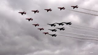 Great seeing 15 jets in the air all together at once. But this wasn't just 15 jets, these pilots are the best of the best, a monumental flypast.Aircraft  ► T-Shirts, Phone Cases, iPad/Tablet Cases: http://artist.dizinga.com/artworks/Bobsurgranny - This channel is all about fun aviation memories, mostly from airshows.Great audio picking up the distinctive sounds of your favourite planes.Fun Aircraft footage ~ from interesting angles.