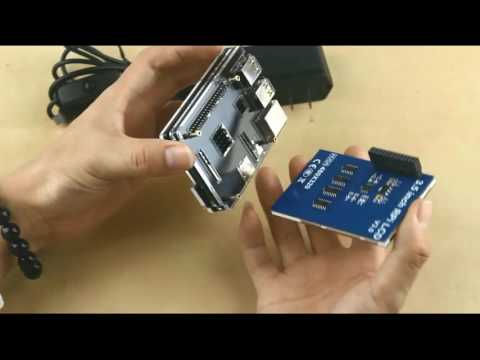 LOTW 3.5 inches Touch Screen for Raspberry Pi with 5 layer Acrylic Case install video